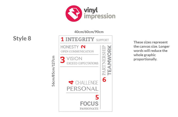 Company Values -Style 5 in Nature by Vinyl Impression