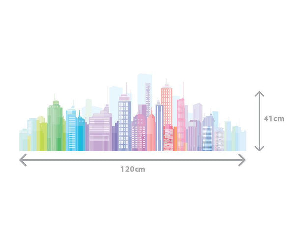 Skylines Wall Sticker in  by Vinyl Impression