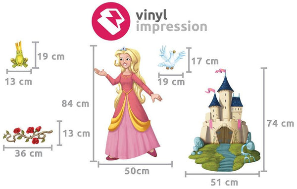 Princess wall sticker in Popular by Vinyl Impression