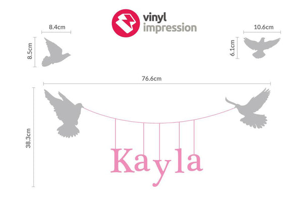 Hanging name vinyl Wall Sticker in  by Vinyl Impression