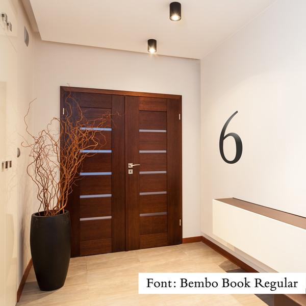 Floor Number wall sticker in  by Vinyl Impression