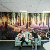 Premium Bluebell Wood Wall Mural (Laminated) in Office by Vinyl Impression