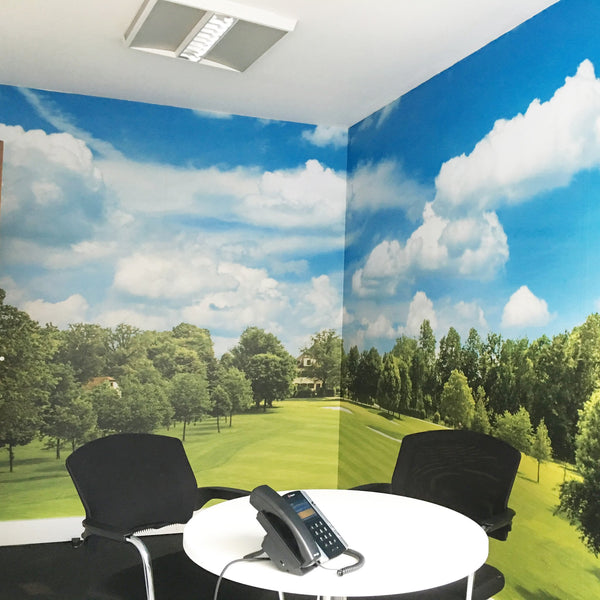 Premium Golf Wall Mural (Laminated) in Office by Vinyl Impression
