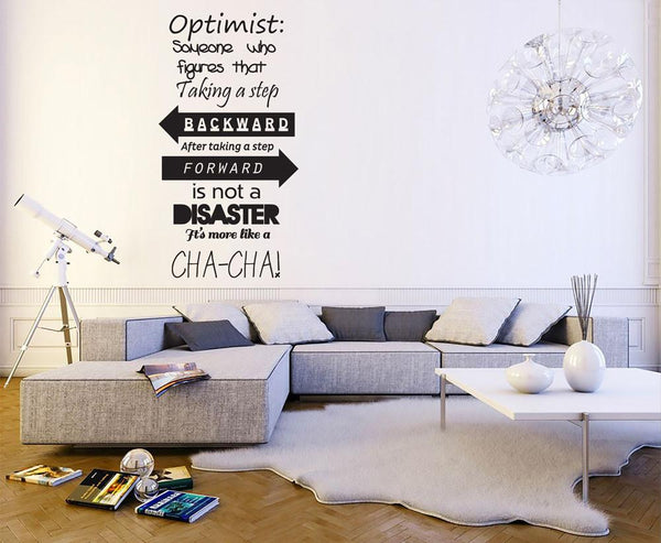 Optimist Vinyl Wall Sticker in  by Vinyl Impression