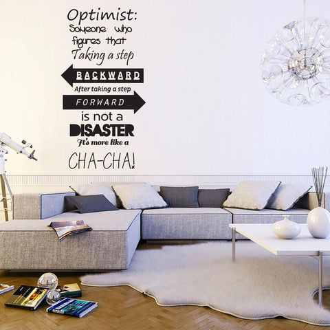 Text based wall sticker. Word wall stickers UK