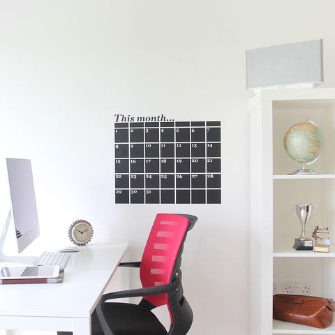 Monthly Planner Wall Sticker for organising yourself