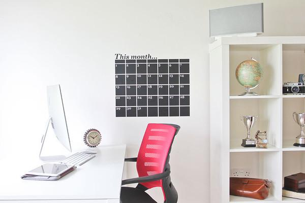 Monthly Planner Chalkboard Wall Sticker in All Products by Vinyl Impression