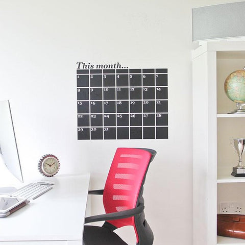 Chalkboard planner wall sticker for your home office