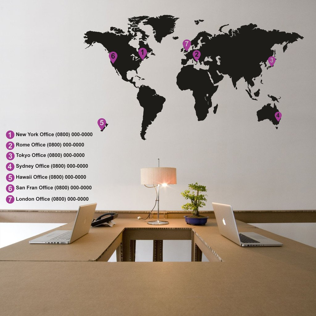 Extra Pins For World Map Wall Stickers Vinyl Impression