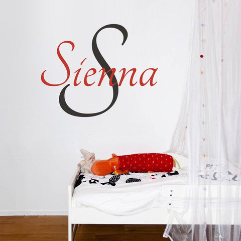 name wall sticker decals for bedrooms and childrens rooms.