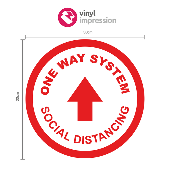 One Way System Sticker Pack in COVID-19 Products by Vinyl Impression