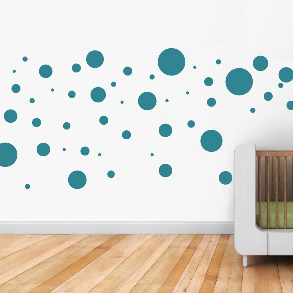 Polka Dots wall stickers scatter dots around your room for a fun