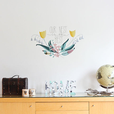 Celebrate your home with this vinyl wall decal sticker.