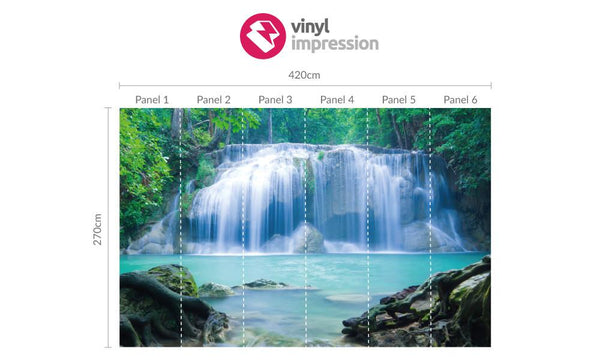 Premium Waterfall Timelapse Wall Mural (Laminated) in  by Vinyl Impression