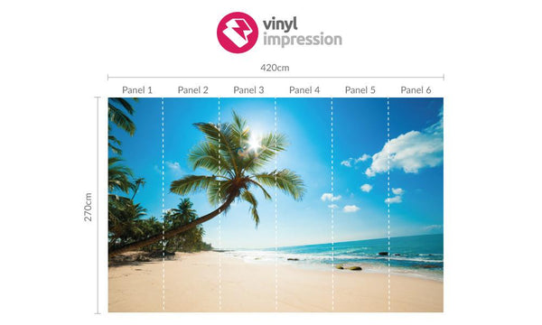 Premium Palm Tree Wall Mural (Laminated) in  by Vinyl Impression