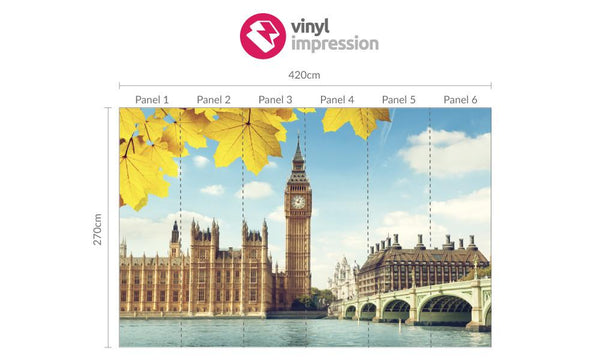 Premium Big Ben Wall Mural (Laminated) in  by Vinyl Impression