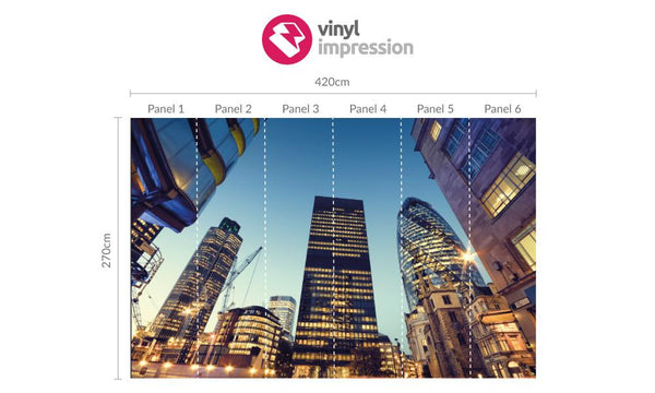 Premium London Tower 42 Wall Mural (Laminated) in Office by Vinyl Impression