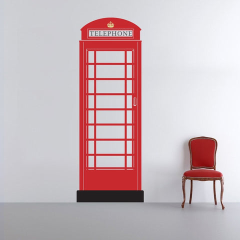 British Telephone Box Interior Decor - Removable Wall Stickers by Vinyl Impression