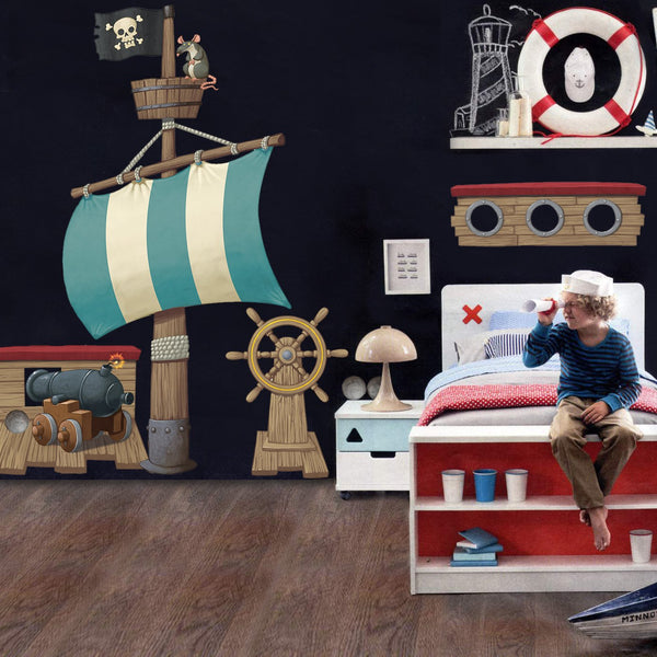 Pirate Ship Pack Wall Sticker in  by Vinyl Impression
