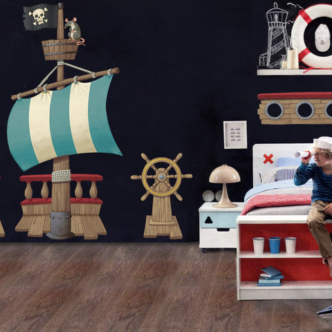 Wall Sticker Room Pack Pirate Ship Scene