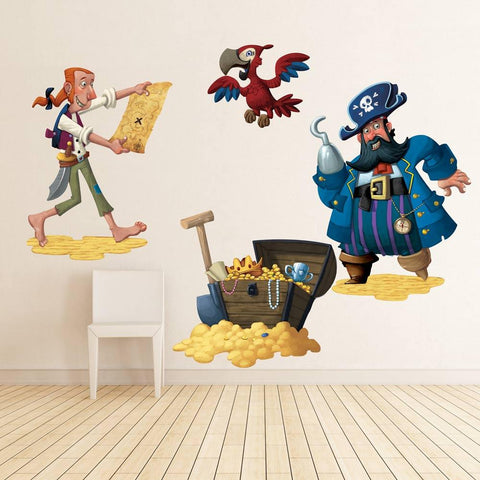 Pirates wall sticker for boys bedroom removable