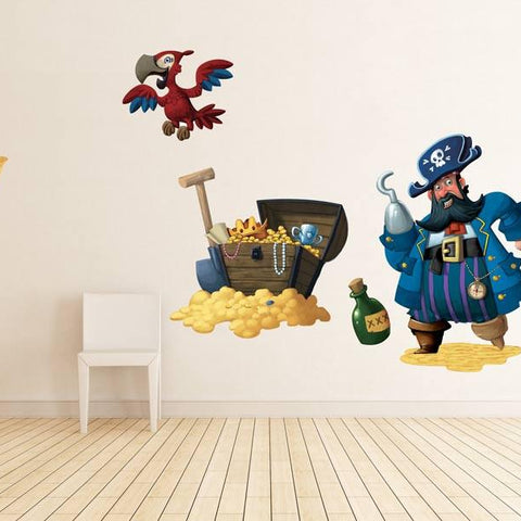 Repositionable uk wall stickers pirates wall sticker