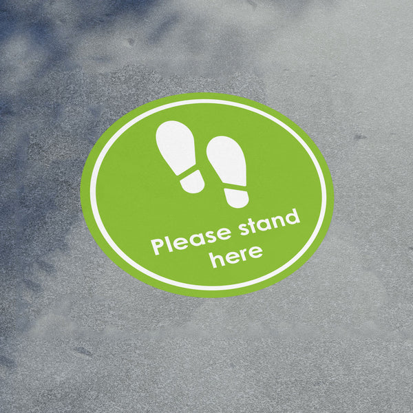 Please Stand Here Floor Sticker Pack in  by Vinyl Impression