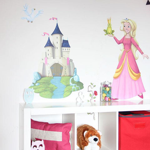 Princess decals for baby's nursery. Girls wall sticker pack for bedrooms