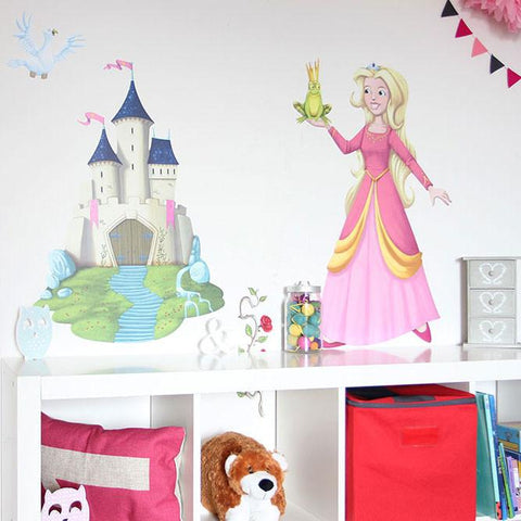 Princess Wall Stickers for kids bedroom. Wall art decal for kids bedrooms, alternative interior designs