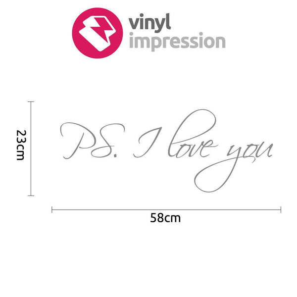 Ps. I love you in Popular by Vinyl Impression