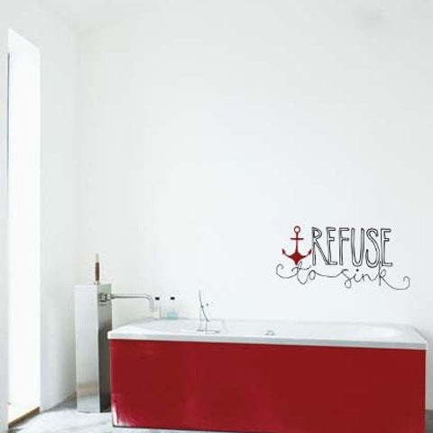 Cool hand illustrated typography wall sticker design Vinyl Impressions