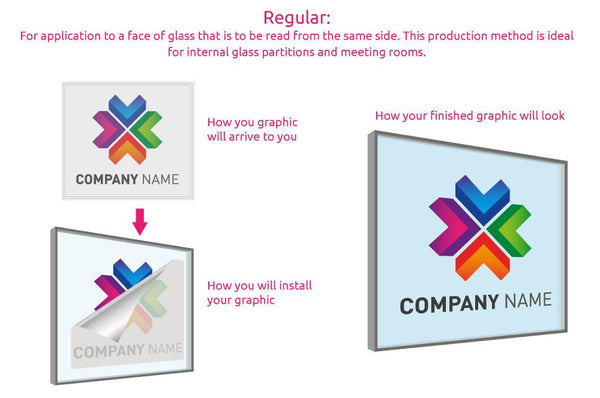Printed Logo Window Sticker (Frosted) in  by Vinyl Impression