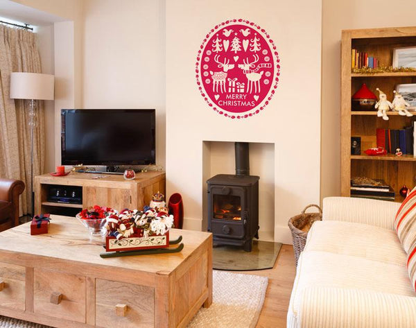 Reindeers in jumpers Christmas decoration wall sticker in  by Vinyl Impression
