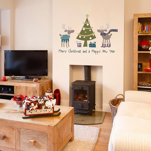 Reindeer presents Christmas decoration wall sticker in  by Vinyl Impression