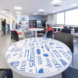 Circular Table Wraps in  by Vinyl Impression