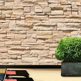 Sand Stone Wall Mural in Kitchen by Vinyl Impression