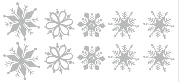 Snowflake Christmas decoration window stickers in  by Vinyl Impression
