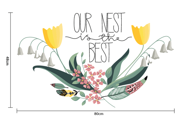 Our nest is the best Vinyl wall sticker in  by Vinyl Impression