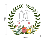 Let love abide vinyl wall sticker in  by Vinyl Impression
