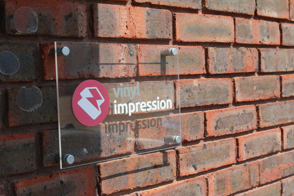 Acrylic Panel Logo Sign in  by Vinyl Impression