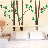 Silver Birch Trees Vinyl Wall Sticker in Kids by Vinyl Impression
