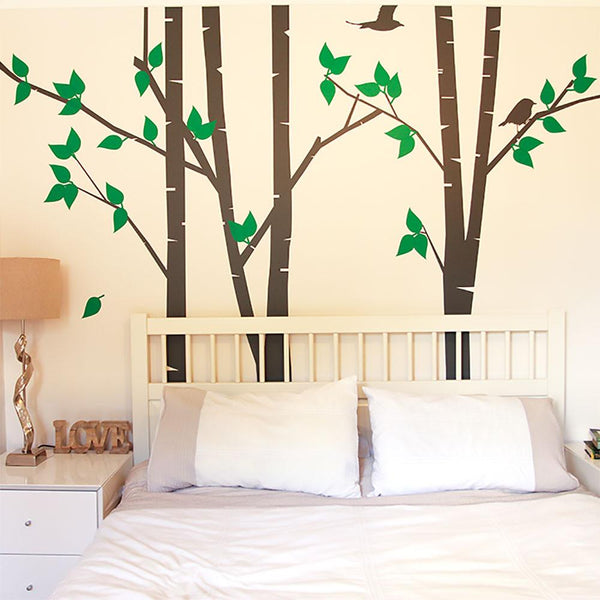 Silver Birch Trees Vinyl Wall Sticker in Home by Vinyl Impression