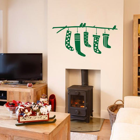 Christmas stocking wall sticker decorations for homes and workplaces