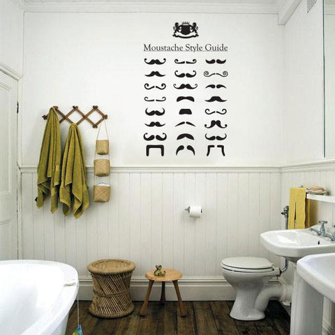 Moustaches wall sticker decal removable wall graphic decal