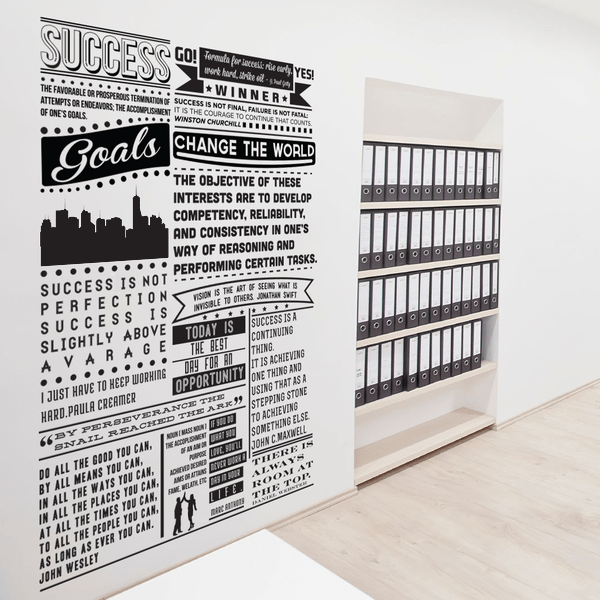 Success Manifesto Wall Sticker in  by Vinyl Impression