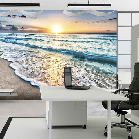 Sunset wall mural mock up