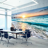 Premium Sunset Beach Wall Mural (Laminated) in  by Vinyl Impression