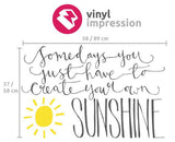 Sunshine wall decal in  by Vinyl Impression