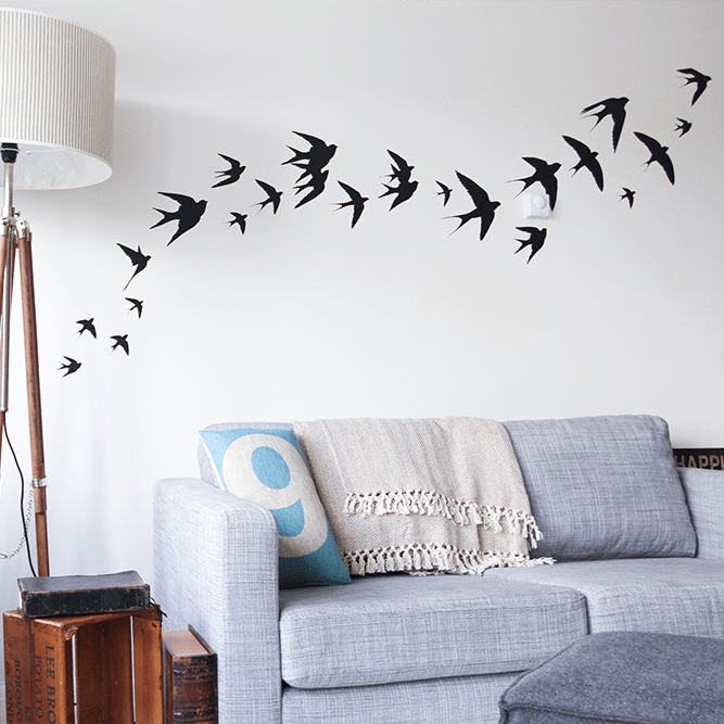 swallows wall stickers flying | vinyl impression
