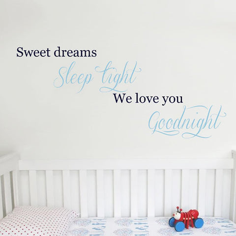 Baby Nursery quote removable wall sticker